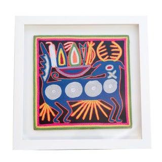 Huichol Yarn Painting W/ Custom Wood Frame