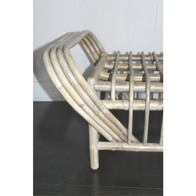 Vintage Mid Century Bamboo Bentwood Sculptural Bench For Sale - Image 4 of 8