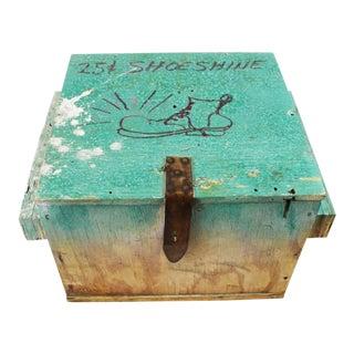 1940s Folk Art Shoe Shine Box For Sale