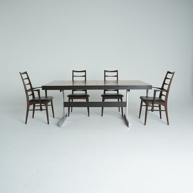 Expandable Mixed Wood Milo Baughman Dining Table - Image 7 of 7