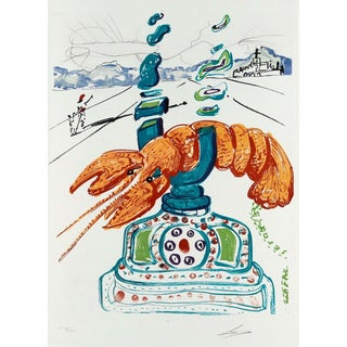Salvador Dalí­ Cybernetic Lobster Telephone (Imagination & Objects of the Future Portfolio) 1975 For Sale