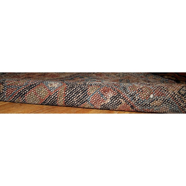 Antique Handmade Persian Hamadan Runner - 3' X 13' For Sale In New York - Image 6 of 6