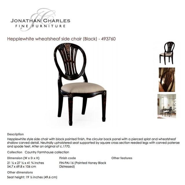 Jonathan Charles Hepplewhite Wheatsheaf Side Chair - Image 5 of 5