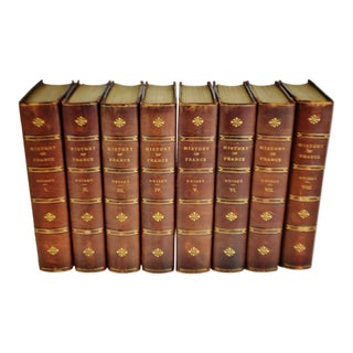 Antique History of France Guizot University Edition Illustrated Books - 8 Volumes For Sale