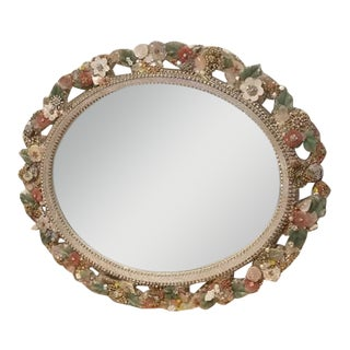 Handmade Jade & Crystal Mirror