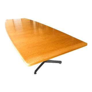 Mid-Century Modern Boat Shaped Conference Table