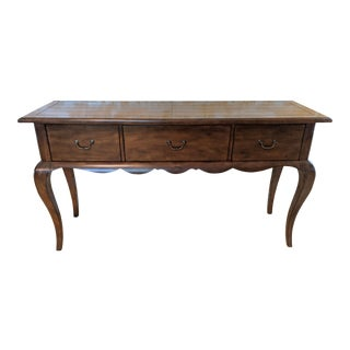 French Country 3-Drawer Planked Console Table For Sale