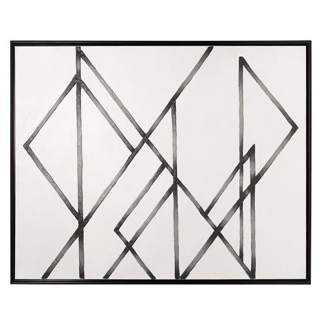 Our Trinity Hand Painted Canvas Wall Art is an intriguing piece of modern, abstract art. Intersecting triangular shapes...