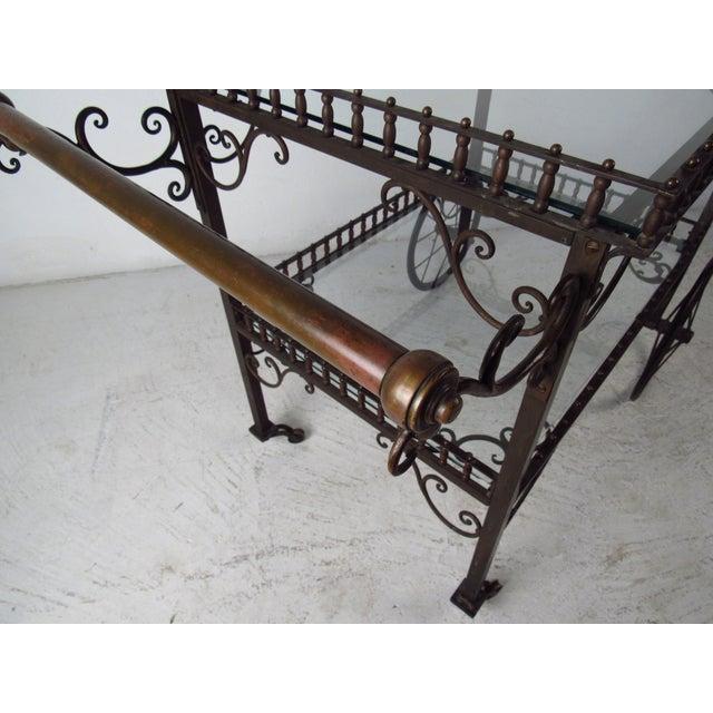 Ornate Vintage Bar or Tea Cart For Sale - Image 9 of 11