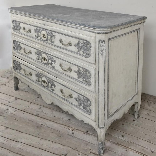 Country 19th Century Country French Regence Painted Commode For Sale - Image 3 of 13