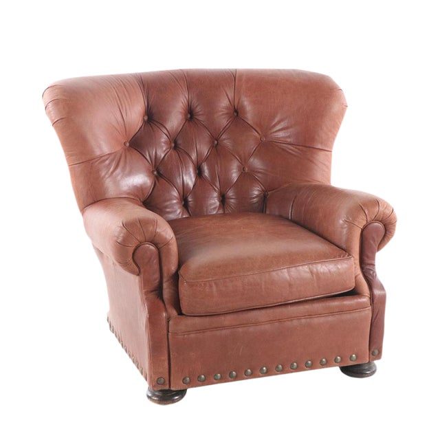 Cool Modern Klaussner Brown Leather Wingback Chair Short Links Chair Design For Home Short Linksinfo