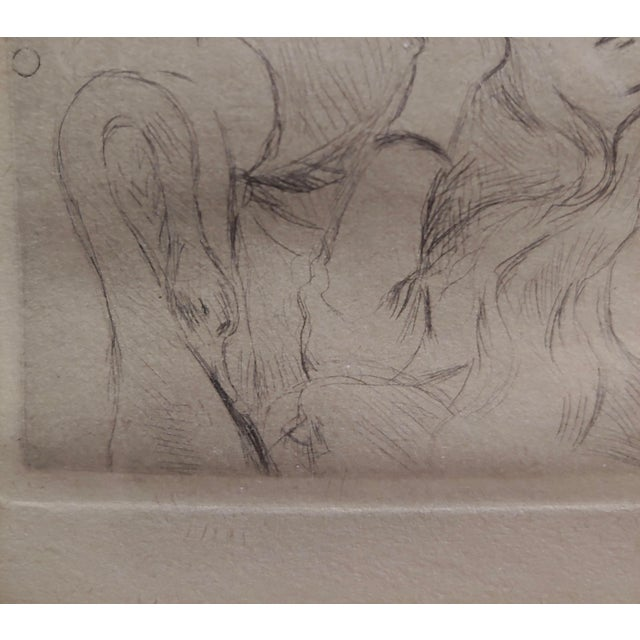 Berthe Morisot -Reclining Woman-Etching C1880s For Sale In Los Angeles - Image 6 of 8