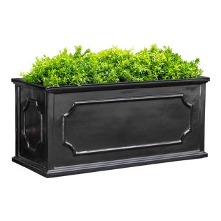 Andover Window Box, Large, Glossy Black For Sale