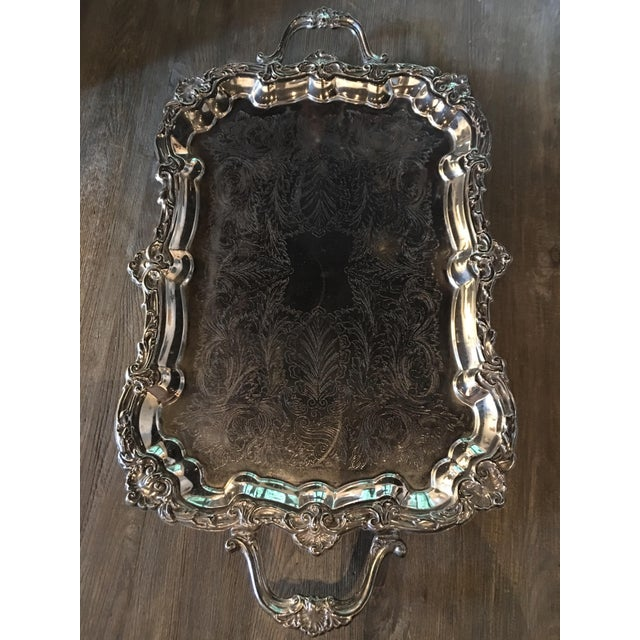 Silver Plate Victorian Footed Buttler's Tray For Sale - Image 5 of 8