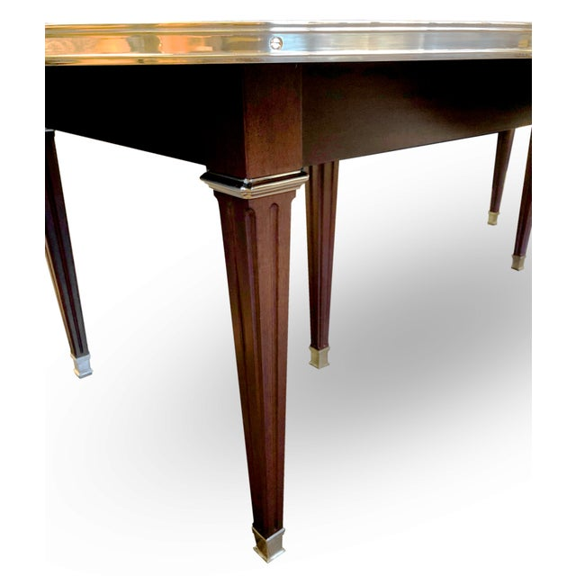 Frederick P. Victoria & Son, Inc. Canabas Dining Table For Sale - Image 4 of 6