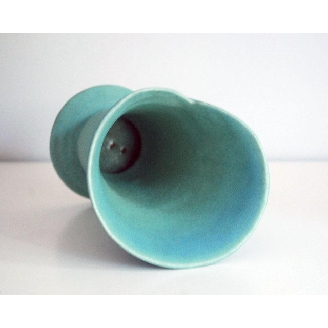 Mid 20th Century Mid-Century Modern Van Briggle Pottery Turquoise Wrap Vase For Sale - Image 5 of 7