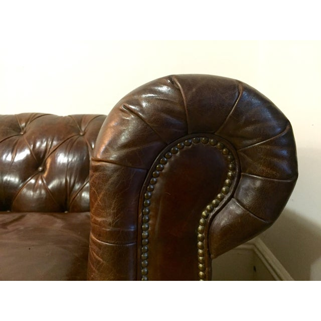 Chesterfield Sofa Brown Leather - Image 4 of 5
