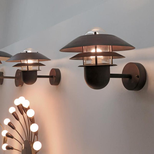 Nordlux Danish Outdoor Wall Lights - a Pair For Sale - Image 10 of 11