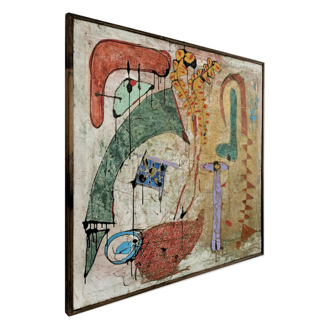Contemporary Contemporary Andrea Bonora Painting in the Manner of Basquiat For Sale - Image 3 of 13