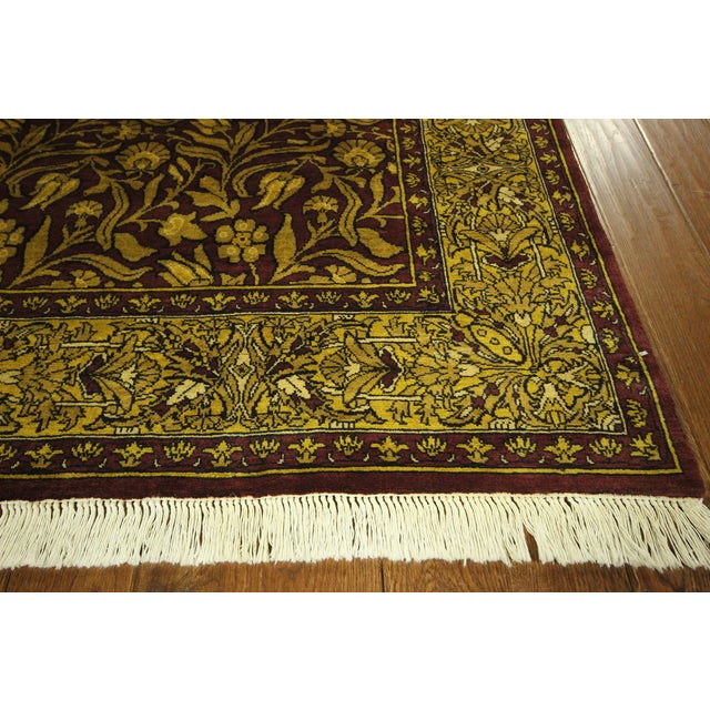 """Suzani Collection Oushak Floral Rug - 6'2"""" x 8'10"""" - Image 4 of 10"""