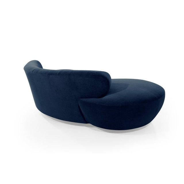 Late 20th Century Mohair Cloud Sofa on Walnut Bases by Vladimir Kagan for Directional For Sale In New York - Image 6 of 13