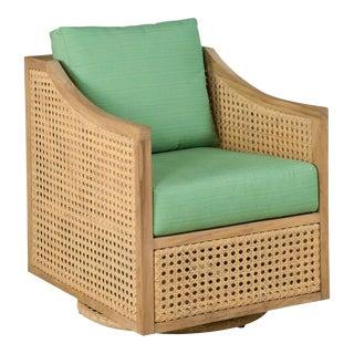 Woodbridge Jupiter Linear Frame Swivel Arm Chair For Sale