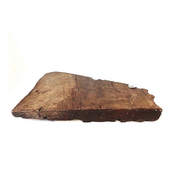 18th-C. Architectural Wood Wall Hanging For Sale - Image 7 of 7