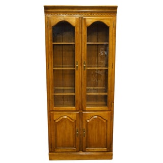 """20th Century Traditional Ethan Allen 34"""" Display Cabinet / Wall Unit For Sale"""