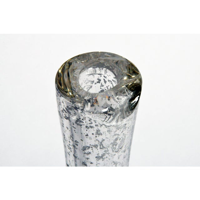 Hand-Blown Glass Imprints of Indian Print Block Vase For Sale In Chicago - Image 6 of 13