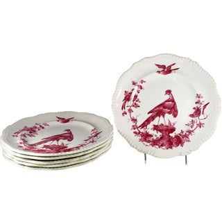 Copeland Spode Black Bird Dinner Plates - Set of 6 For Sale