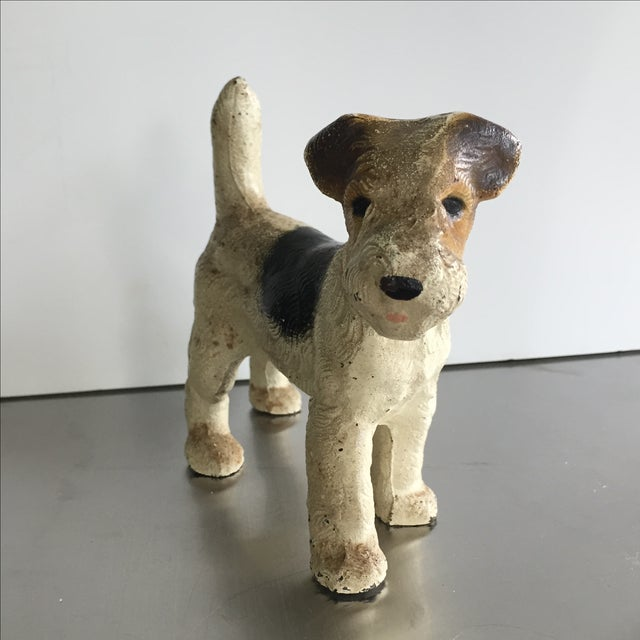Cast Iron Painted Terrier Figurine - Image 3 of 4