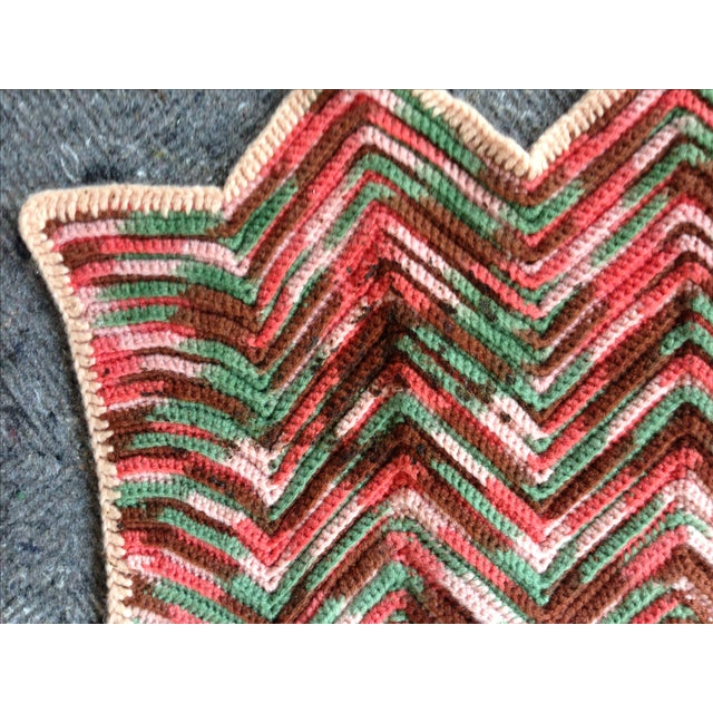 Hand Knitted Zig Zag Wool Throw - Image 5 of 5