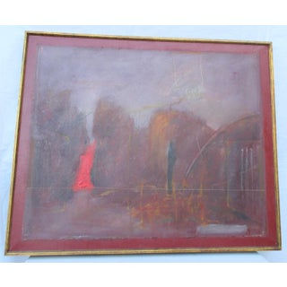 1970s Dark Day in Heaven Angels Flying Low Painting For Sale