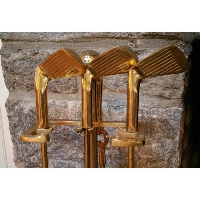 Brass Golf Motif Fireplace Tool Set - Image 6 of 7