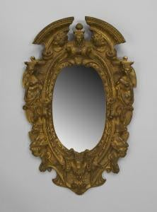 Superb 20th Century American Victorian Style Gilt Bronze Oval Wall