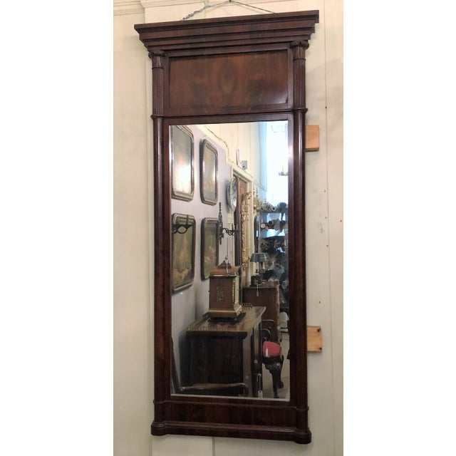 Antique American Federal Mahogany Mirror, Circa 1840-1850. For Sale - Image 4 of 4