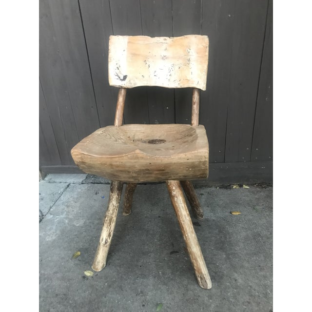 1800's Vintage Rustic Handmade Log Chair For Sale - Image 10 of 10