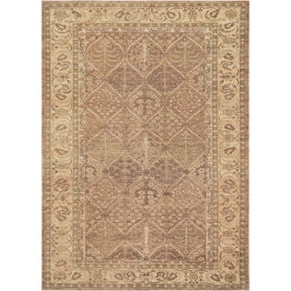 """Mansour Superb Quality Handwoven Agra Rug - 7' X 9'8"""" For Sale"""