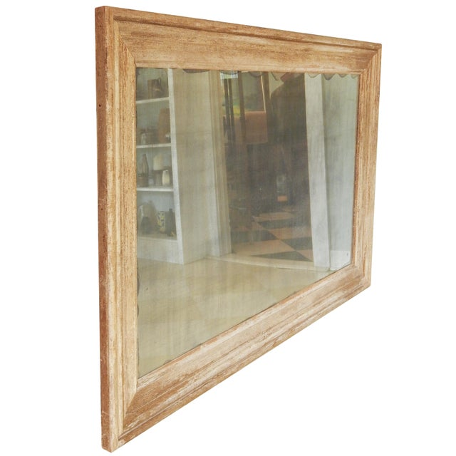 Large Distressed Wood Frame Mirror For Sale - Image 4 of 6