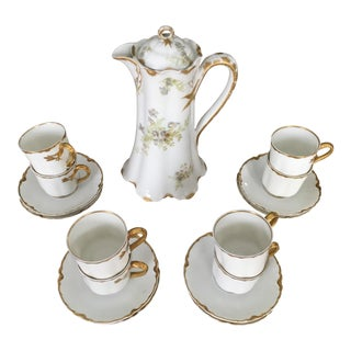 1970s Haviland Limoges Tea Chocolate Set - 18 Pieces For Sale