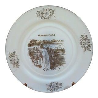 Niagra Falls Milk Glass Collector Plate