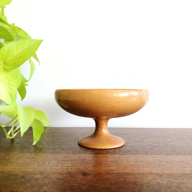 Mid-Century Myrtlewood Bowl For Sale In Austin - Image 6 of 6