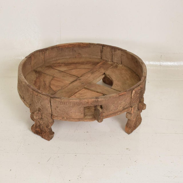 1930s Antique Wood Planter Base for Outdoor Patio, Rice Water Table For Sale - Image 5 of 8