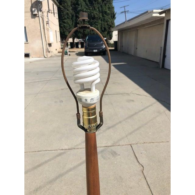 Mid-Century Modern Vintage Teak Floor Lamp For Sale In Los Angeles - Image 6 of 13