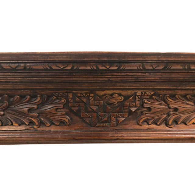 English Carved Mahogany Fireplace Mantel For Sale - Image 4 of 5