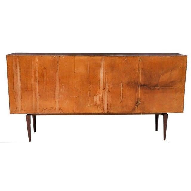 Brown H.W. Klein Rosewood Tamboured Door Console For Sale - Image 8 of 8