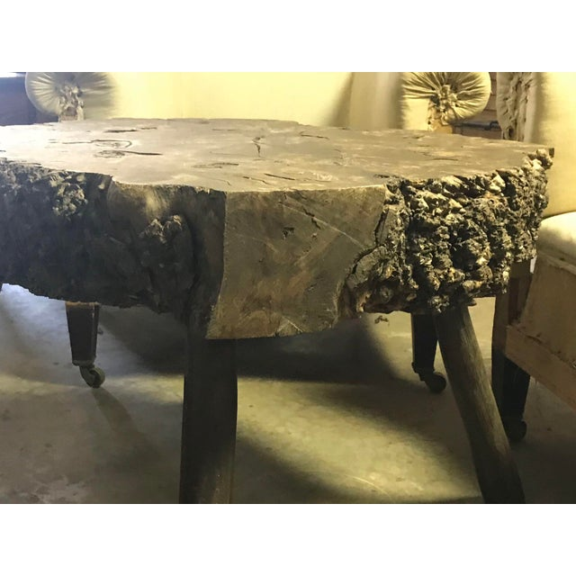 Early 20th C. Wooden Trunk Table For Sale - Image 4 of 5
