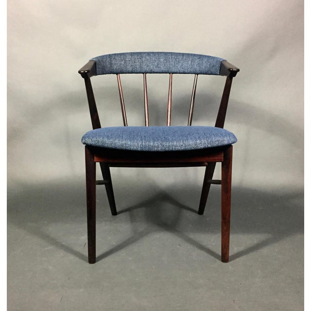 Rosewood Spindle-Back Armchair, Helge Sibast, Denmark 1950s For Sale - Image 9 of 10