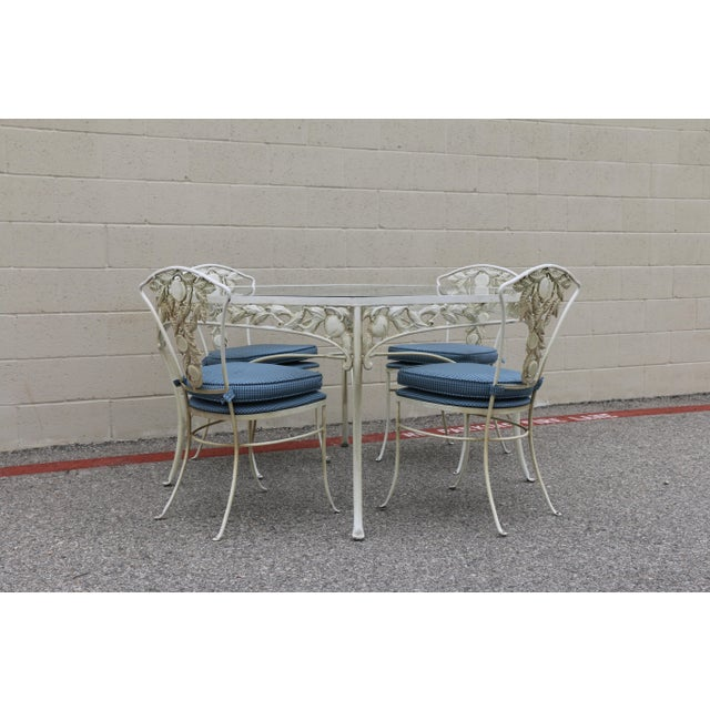 1970s Metal Fruit Accent Patio Set - Set of 5 For Sale - Image 5 of 13