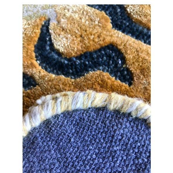 Textile New Modern Wool Tibetan Tiger Cat Rug 4' X 6' For Sale - Image 7 of 9